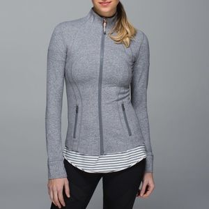Lululemon Define Jacket In Grey Heathered Sz 10